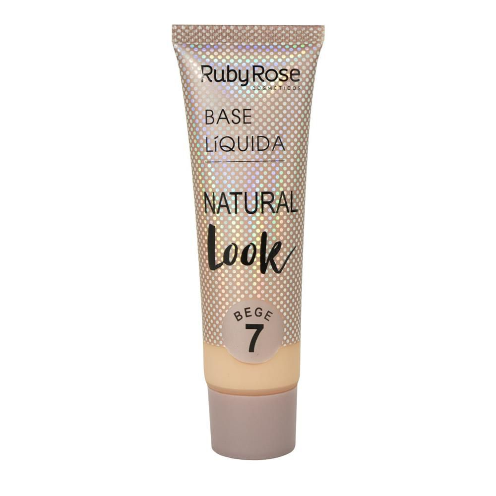 BASE LÍQUIDA NATURAL LOOK BEGE 7 RUBY ROSE