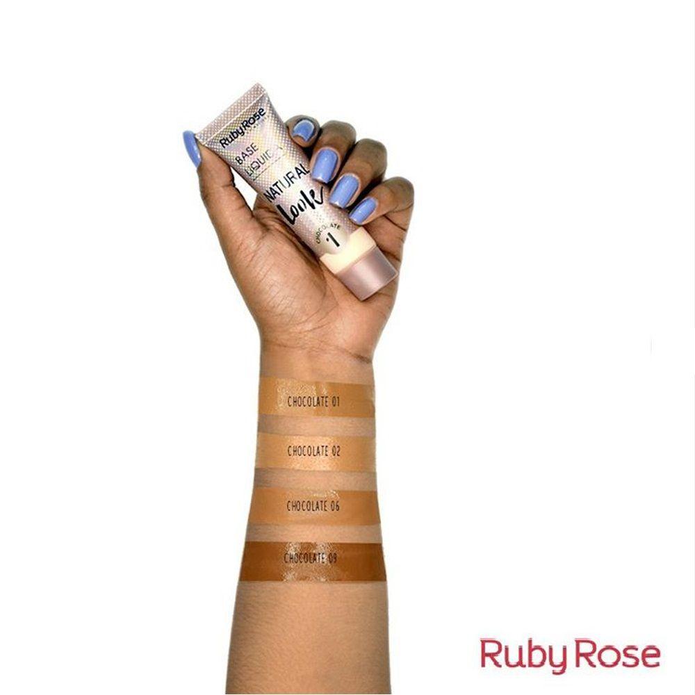 BASE LÍQUIDA NATURAL LOOK CHOCOLATE 01RUBY ROSE