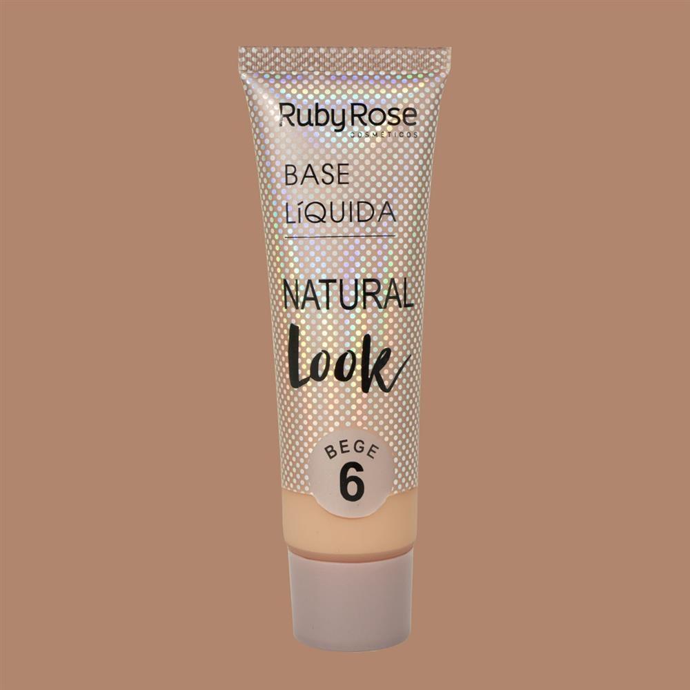 Base líquida Natural Look Ruby Rose - bege 6