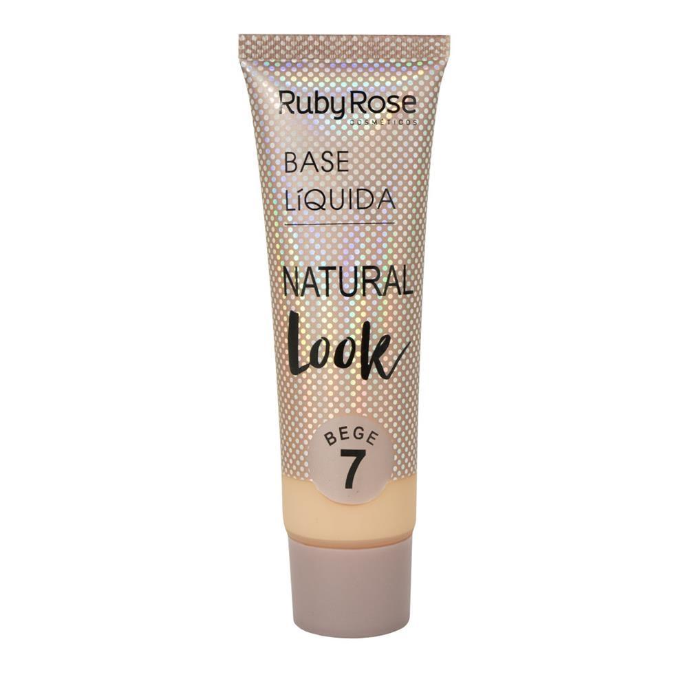 Base líquida Natural Look Ruby Rose - bege 7