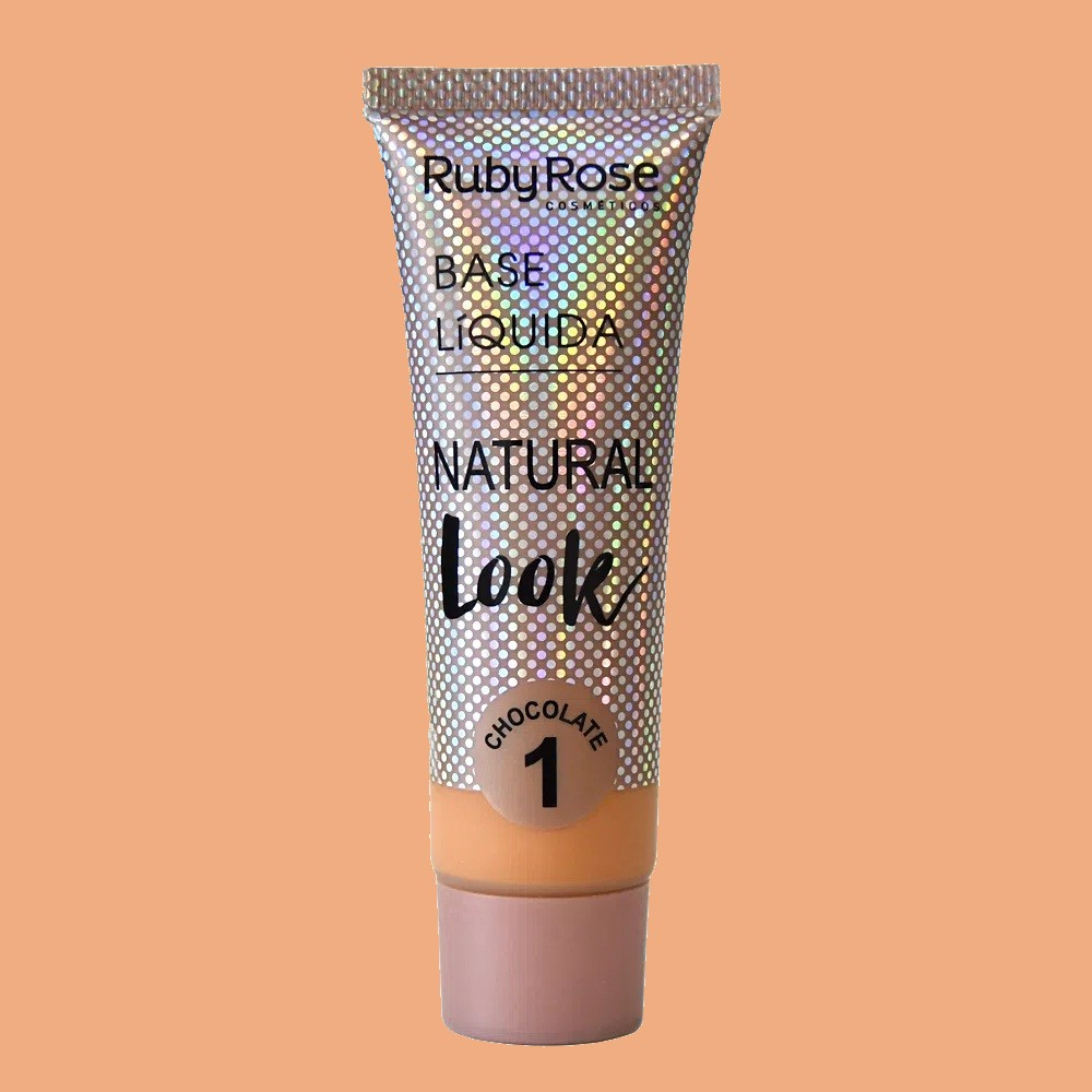 Base líquida Natural Look Ruby Rose - chocolate 1