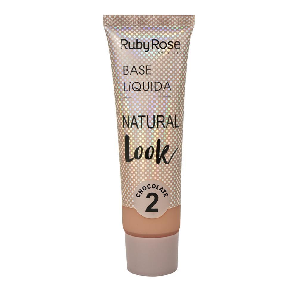Base líquida Natural Look Ruby Rose - chocolate 2