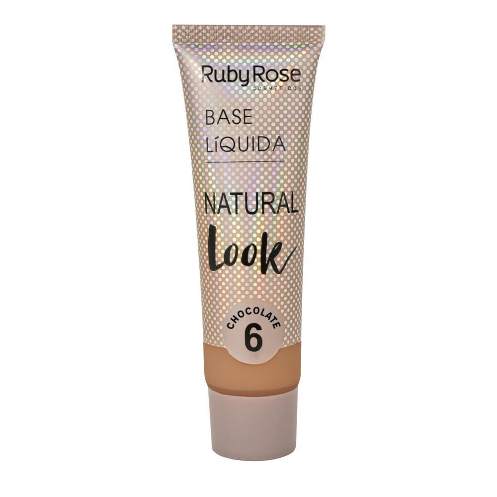 Base líquida Natural Look Ruby Rose - chocolate 6