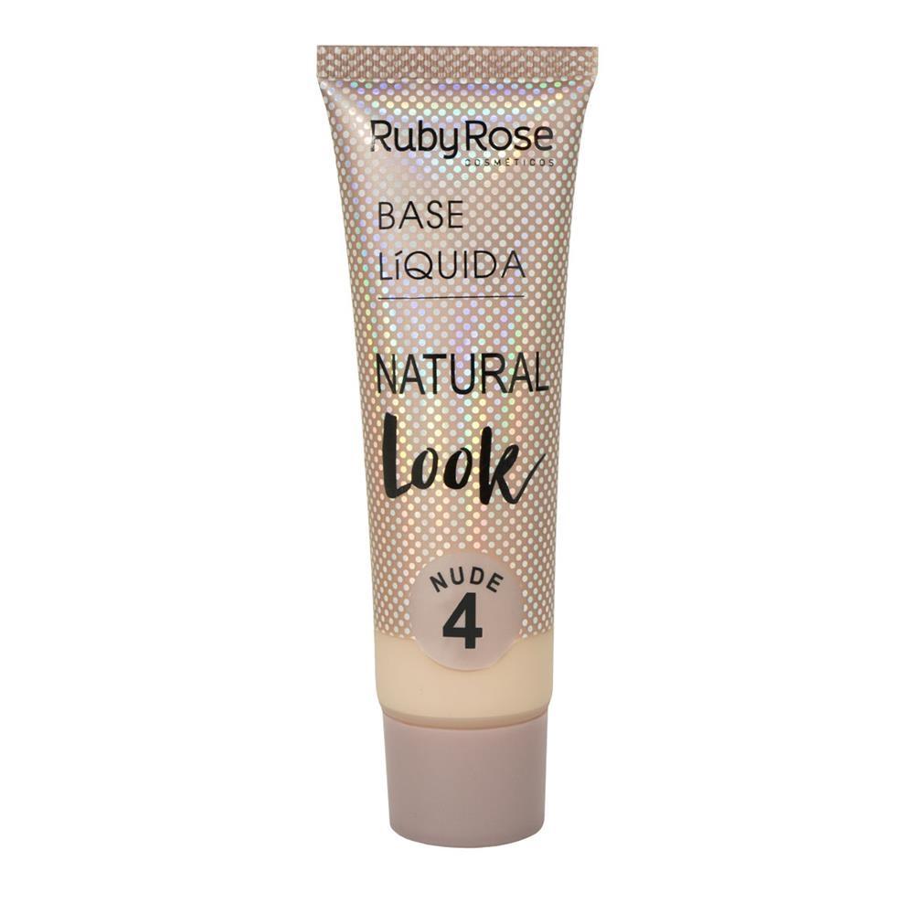 Base líquida Natural Look Ruby Rose - nude 4