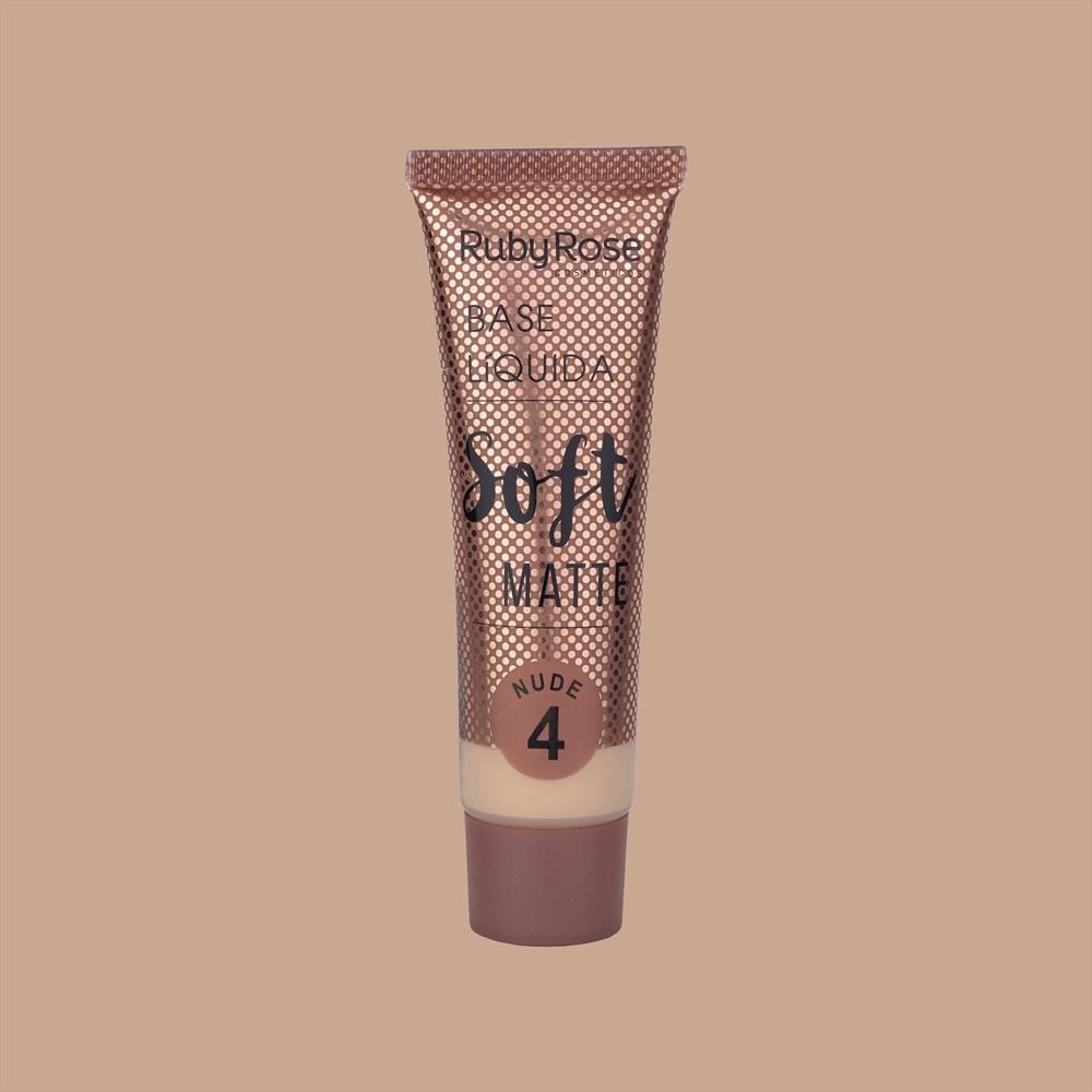 Base líquida Soft Matte Ruby Rose - nude 4