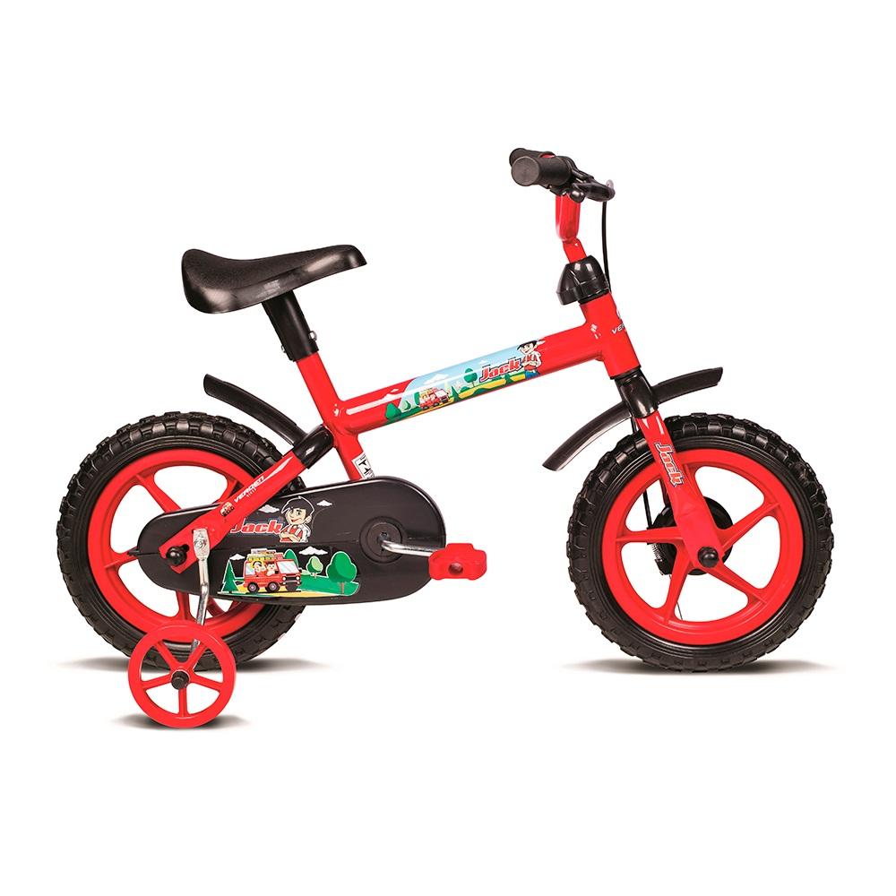 Bicicleta infantil aro 12 Jack vermelho com preto