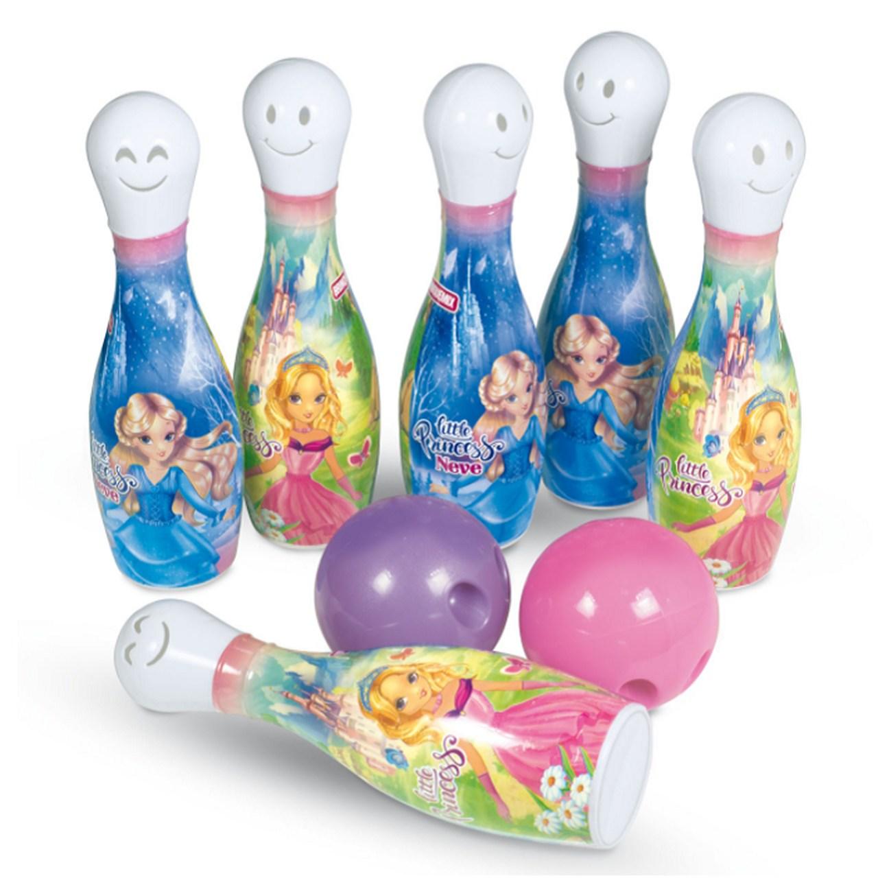 Boliche Princesas com 6 pinos e 2 bolas