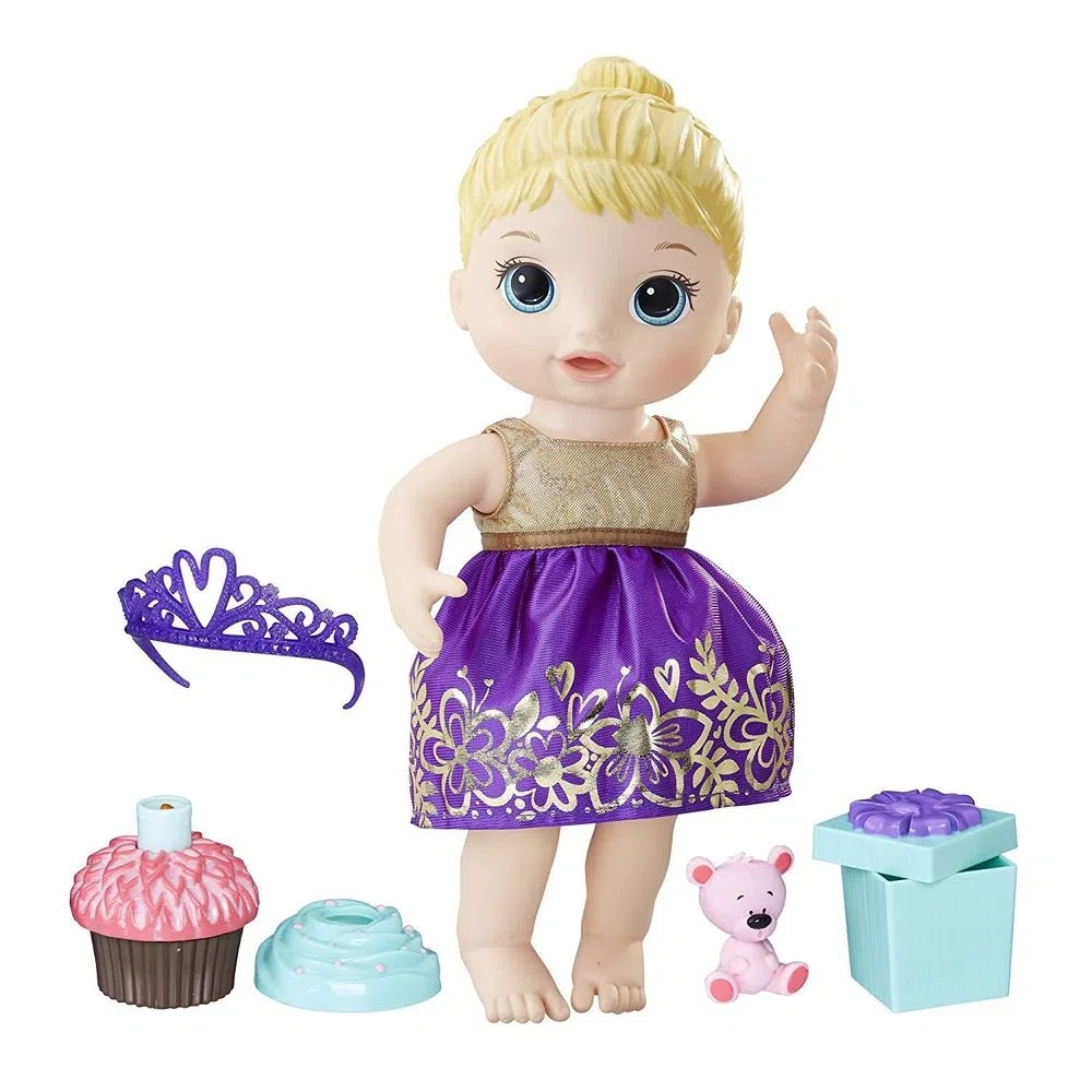 Boneca Baby Alive Festa Surpresa - loira