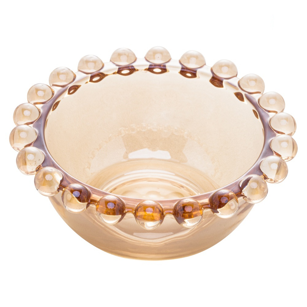 Bowl de cristal âmbar Pearl Wolff 9 cm 4 peças