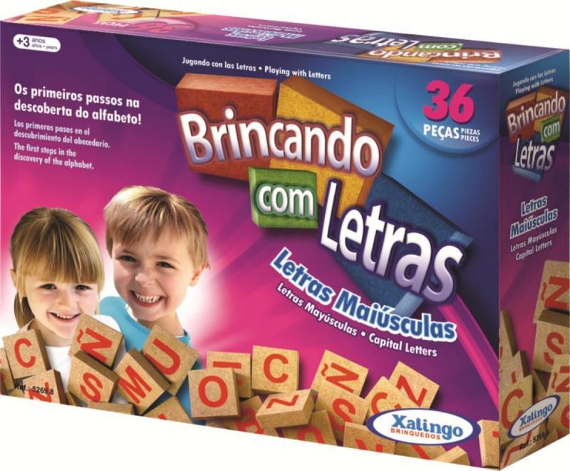 BRINCANDO COM AS LETRAS 36 PEÇAS