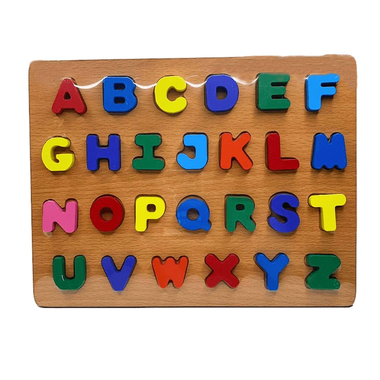 Brinquedo educativo alfabeto de encaixe