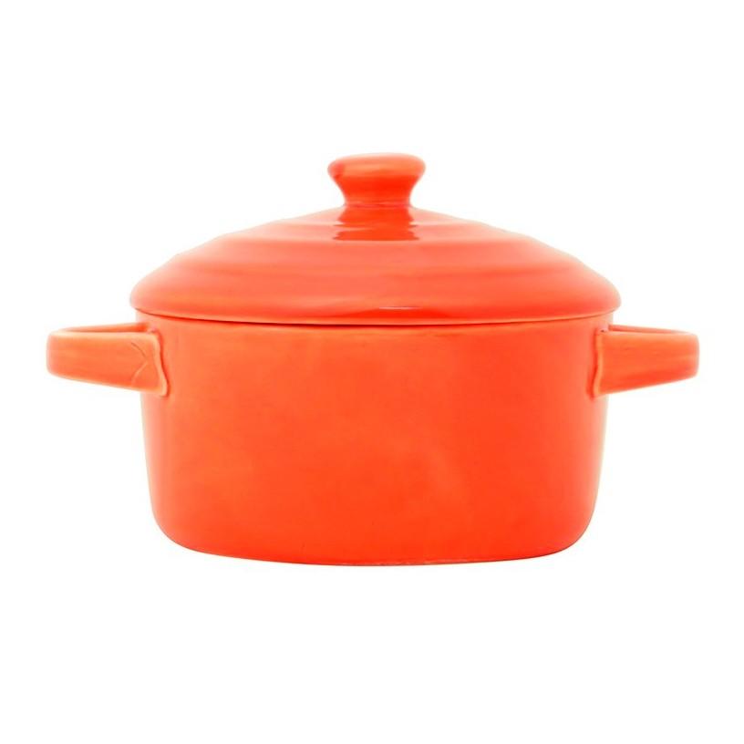 Mini caçarola em porcelana laranja Farm Lyor