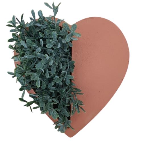 Cachepot terracota Coração