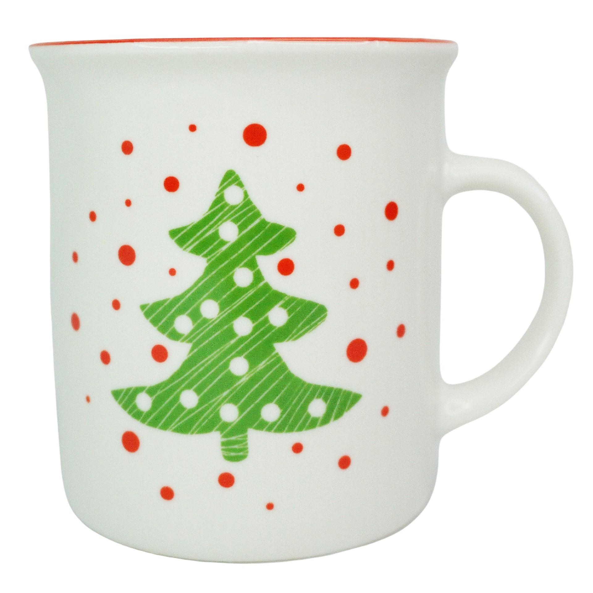 Caneca natalina em cerâmica 340 ml