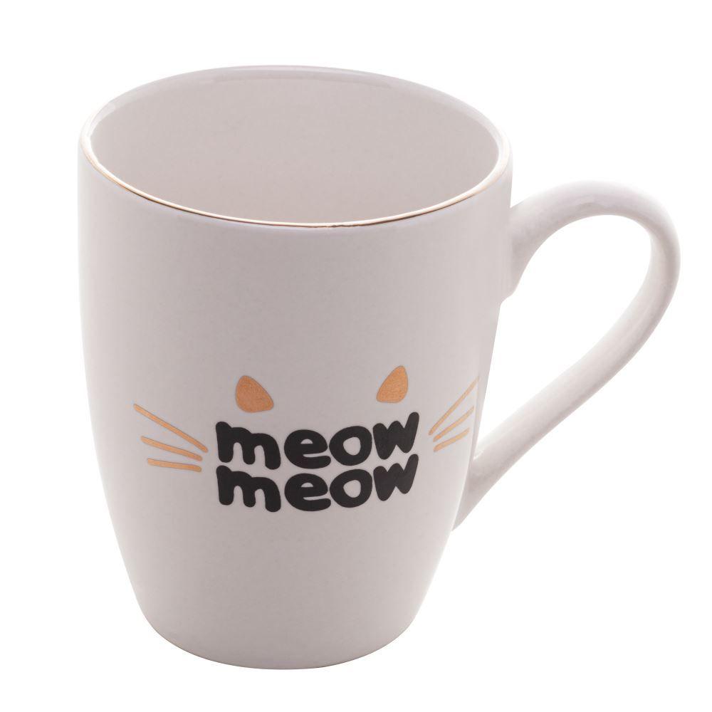Caneca em porcelana Cat Meow Lyor 350 ml
