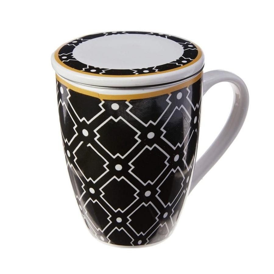 Caneca com tampa e filtro infusor de chá Alexandria Lyor