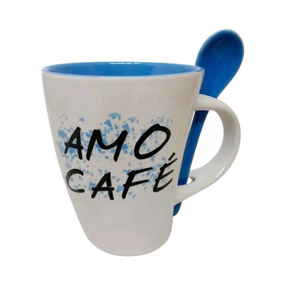 Caneca para café com colher 340 ml