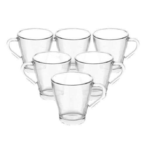 Canecas de vidro Lucia Lyor 280 ml 6 peças