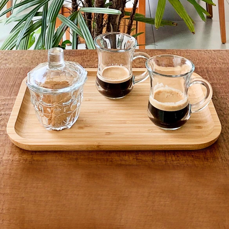 Canecas para café em vidro 6 peças