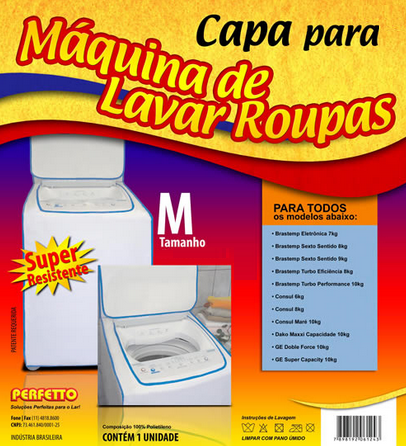 CAPA MAQUINA SUPER LUXO M