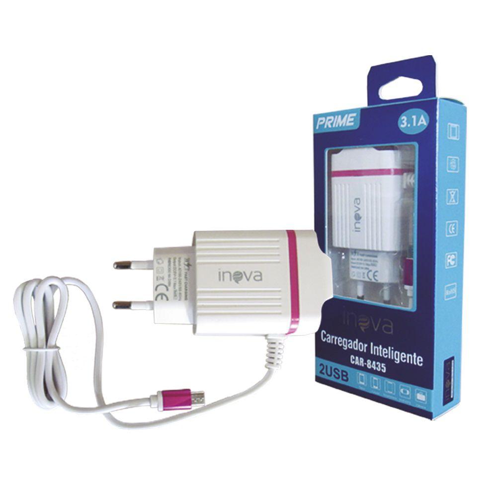 CARREGADOR INTELIGENTE 3.1A 2 USB