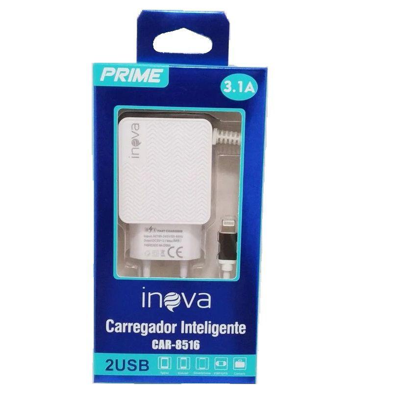 CARREGADOR INTELIGENTE INOVA IPHONE 2 USB CAR-8516