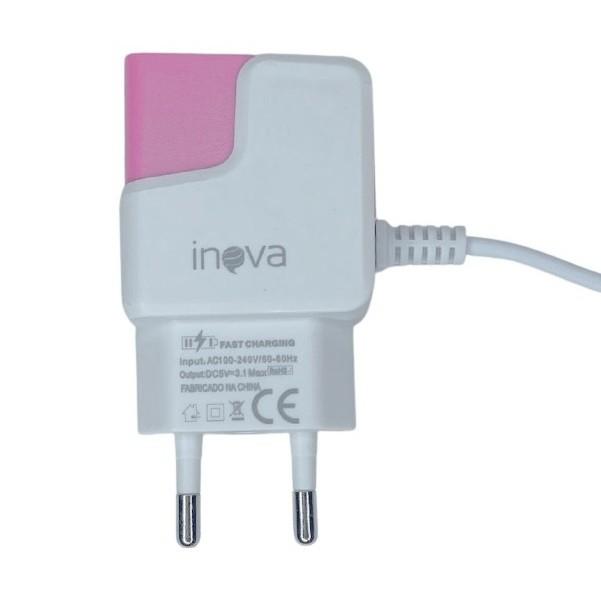 CARREGADOR MICRO USB V8 COM 2 ENTRADAS 1,2 M