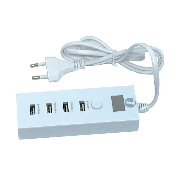 CARREGADOR USB COM 4 PORTAS
