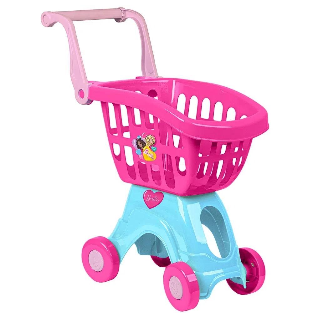 Carrinho de compras infantil Barbie