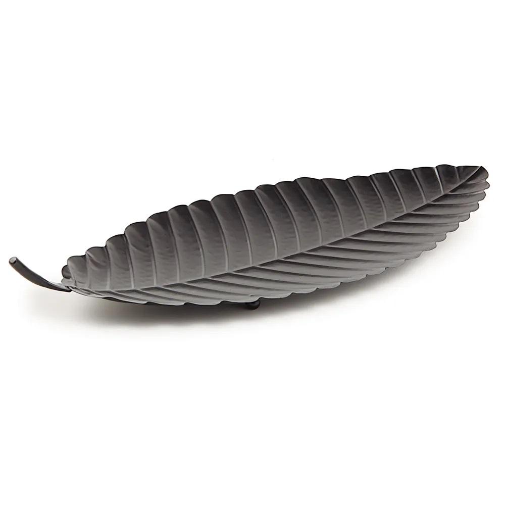 Centro de mesa Folha preta 65 cm