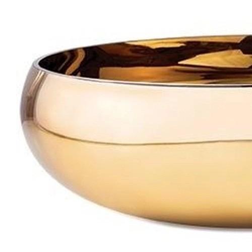 Centro de mesa em vidro dourado 28 cm