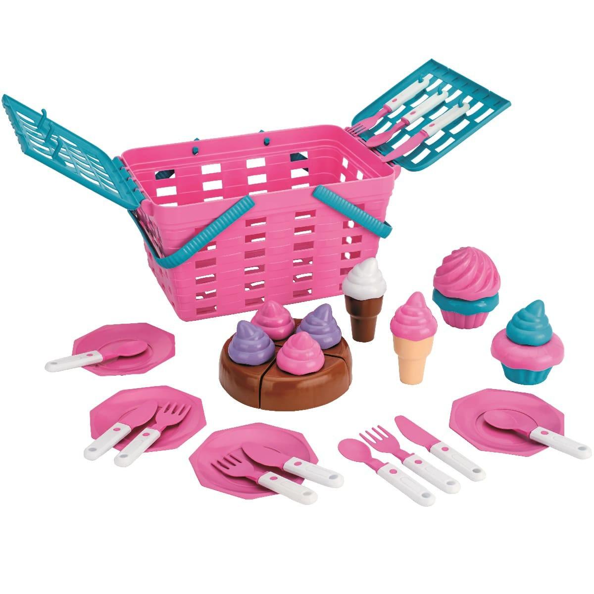 Cesta de doces Kit Cake com acessórios