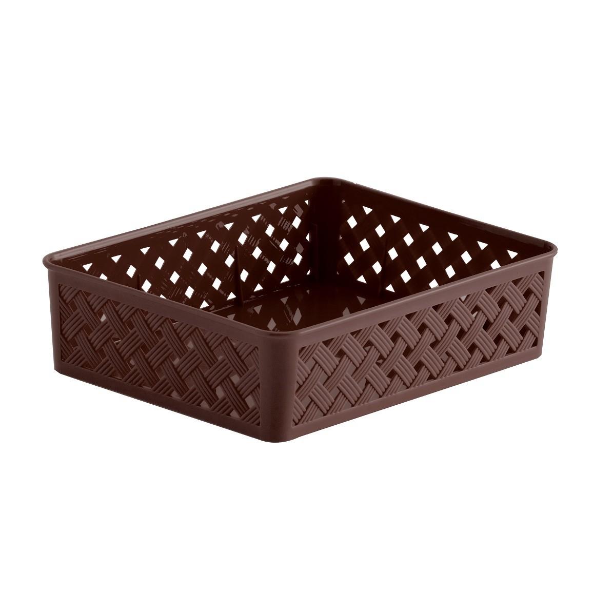Cesto organizador Rattan chocolate 24x19x6,5