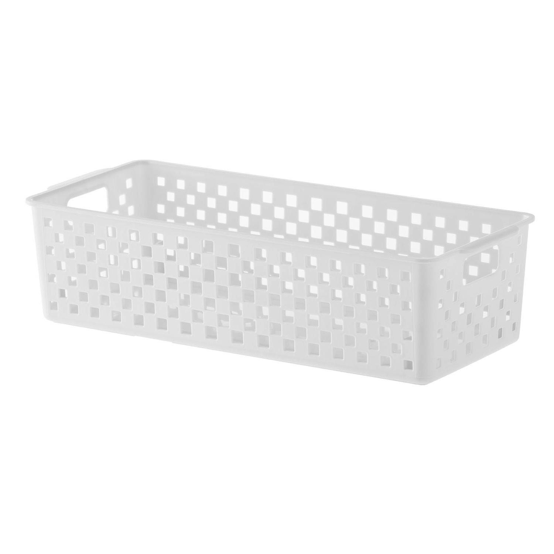 Cesto organizador Quadratta branco 34x15x9