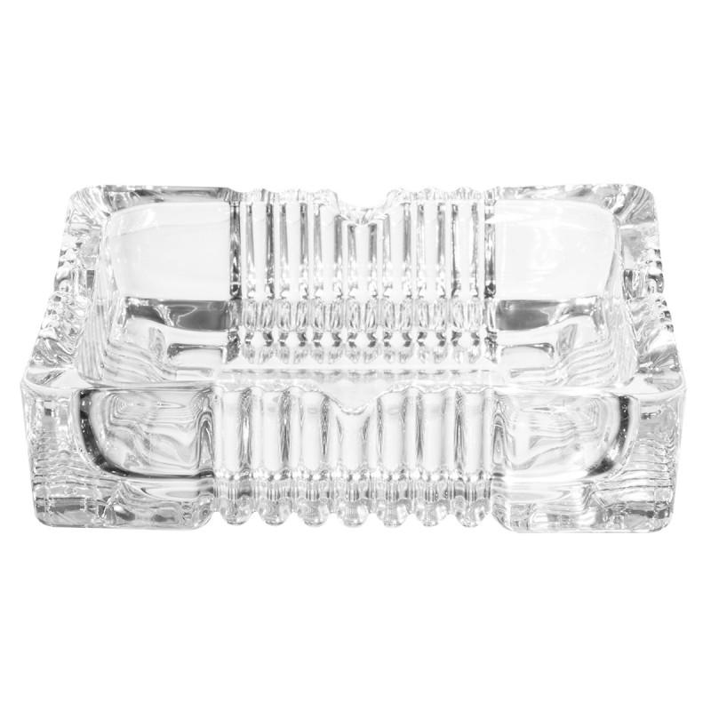 Cinzeiro quadrado em vidro texturizado 10 cm