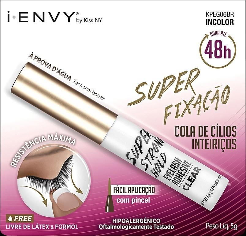 COLA DE CÍLIOS SUPER FIXAÇÃO INCOLOR I-ENVY