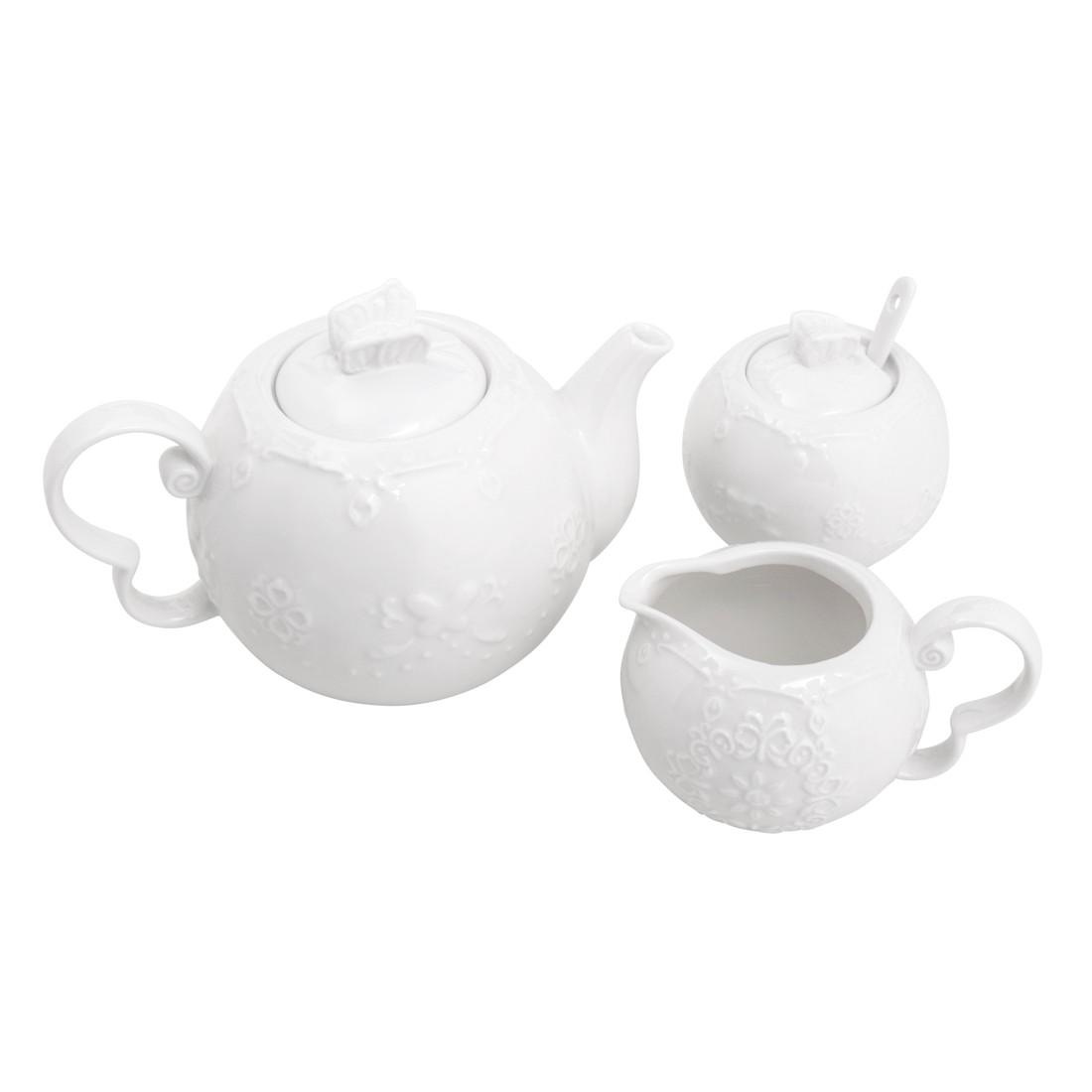 Conjunto para servir chá e café em porcelana Butterfly 3 peças