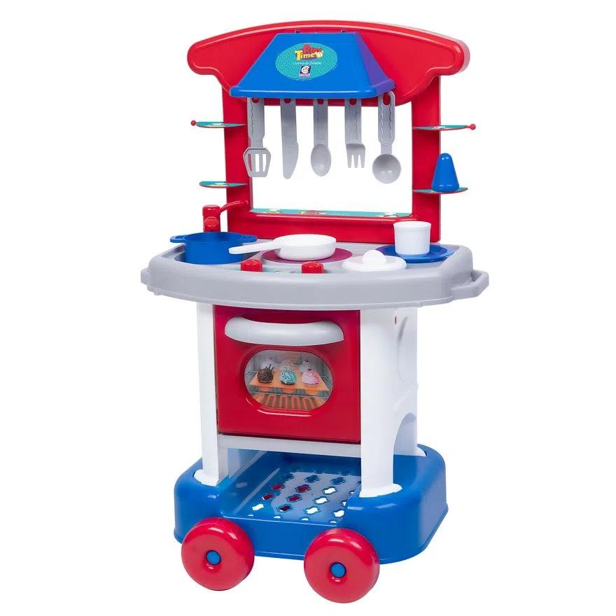 Cozinha infantil Play Time vermelha com azul