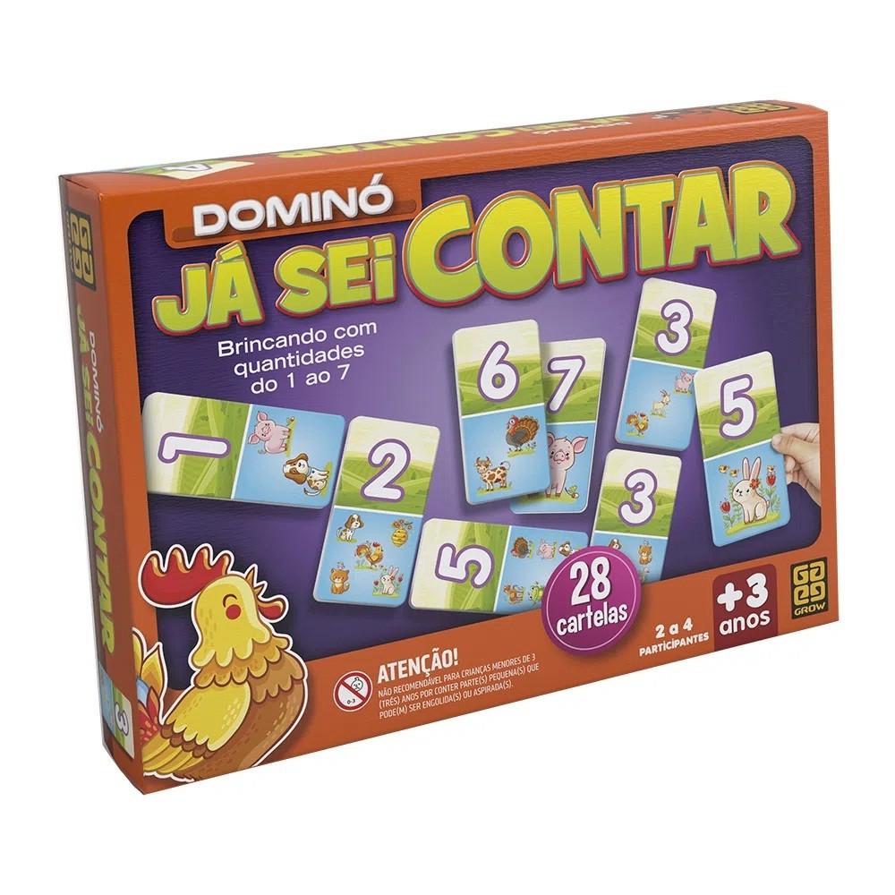DOMINÓ JÁ SEI CONTAR 28 PEÇAS