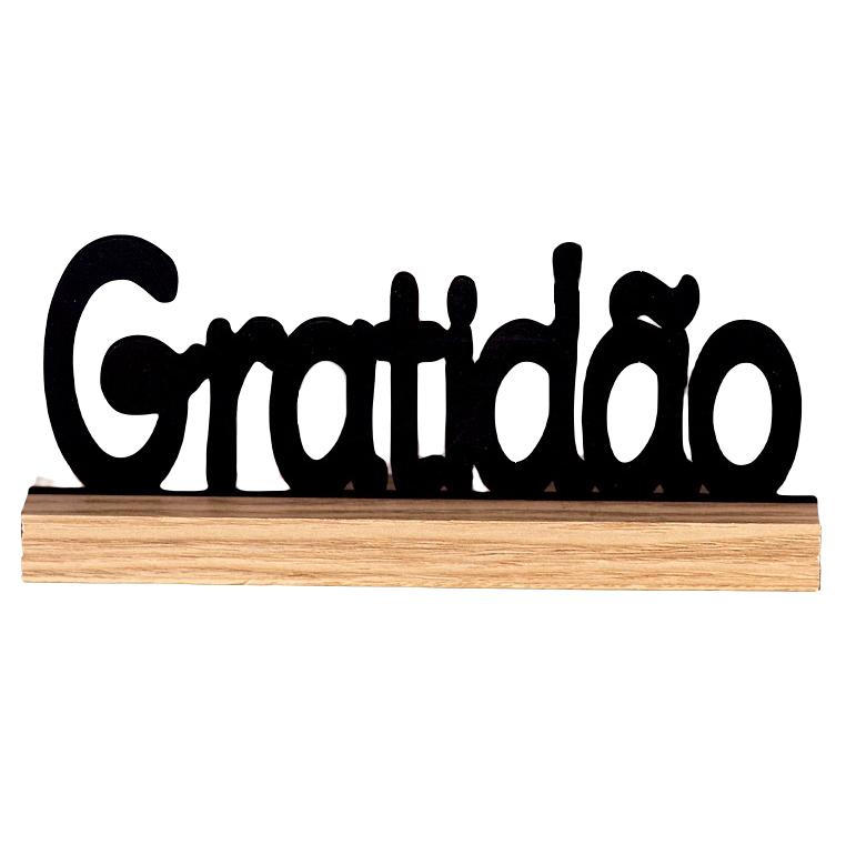 LETREIRO GRATIDÃO EM MDF