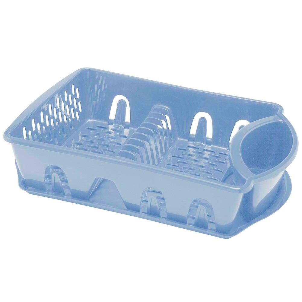 Escorredor de louça com bandeja em plástico
