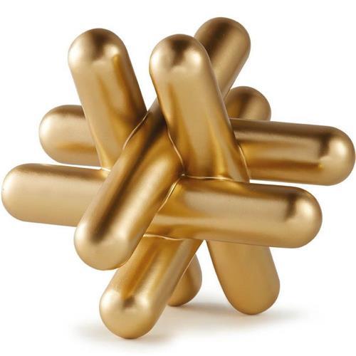 Escultura Barras dourada 21 cm