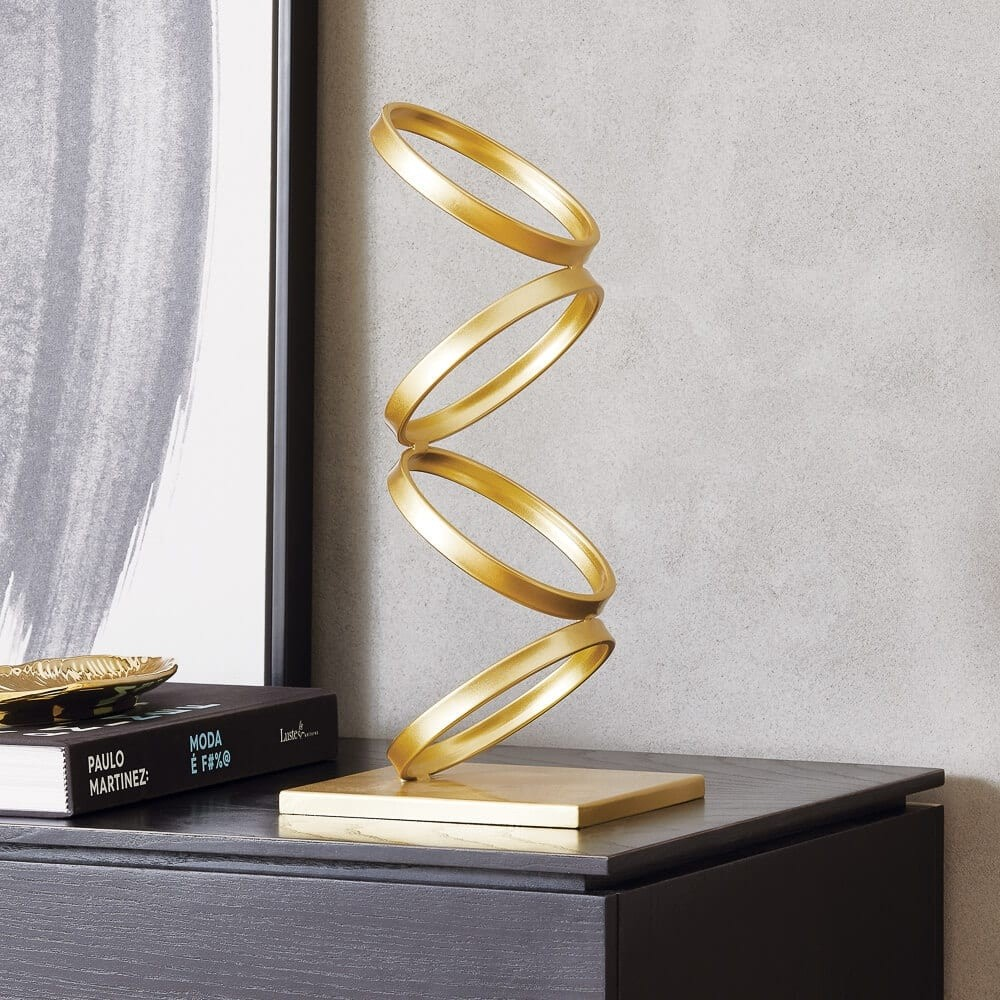 Escultura Argolas douradas