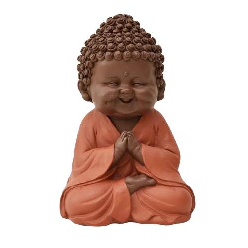 Escultura Buda terroso 16,5 cm
