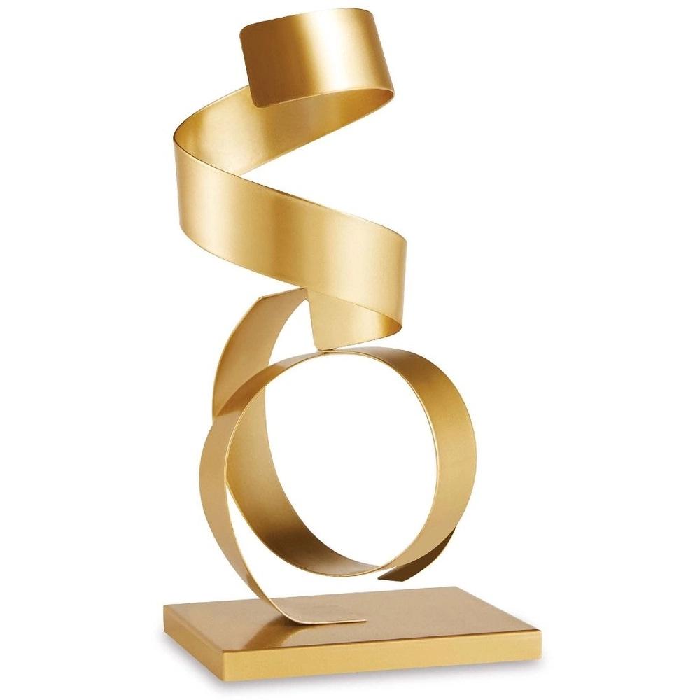 Escultura Espiral dourada