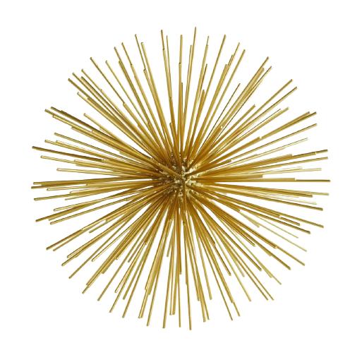 Escultura Ouriço dourado 20 cm