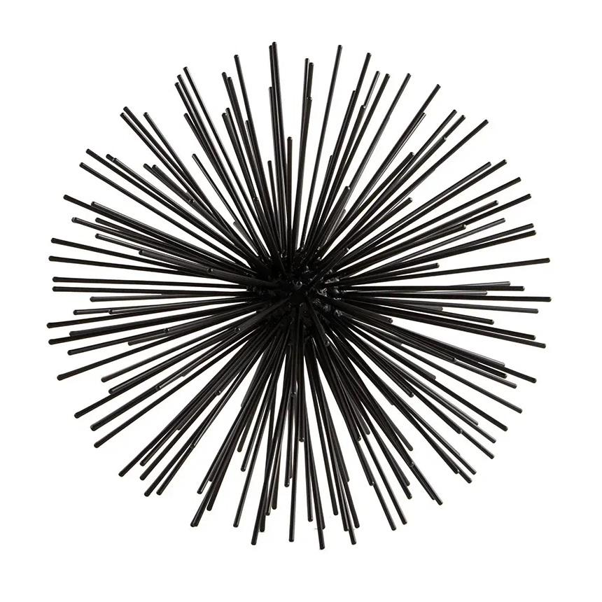 Escultura Ouriço preto 27 cm