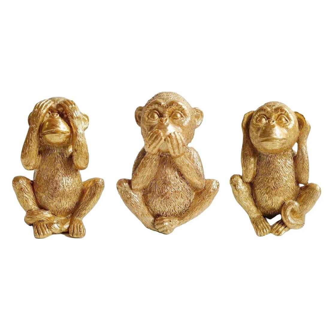 Escultura Trio Sabedoria 15 cm