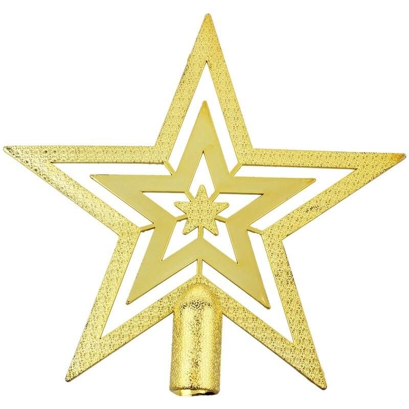Ponteira Estrela de Natal dourada 18 cm