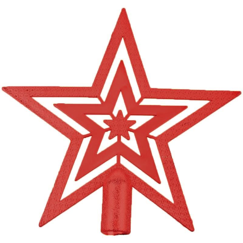 Ponteira Estrela de Natal vermelha 18 cm